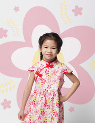 Nearby Floral in Harmony Girls Cheongsam