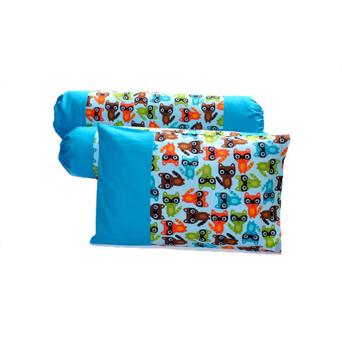Raccoon Pals Pillow & Bolster Case Set