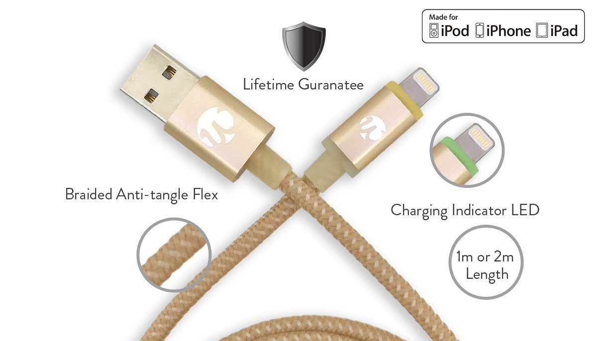 Quickdraw 3.0 Mfi LED Cable for iPhone & iPad