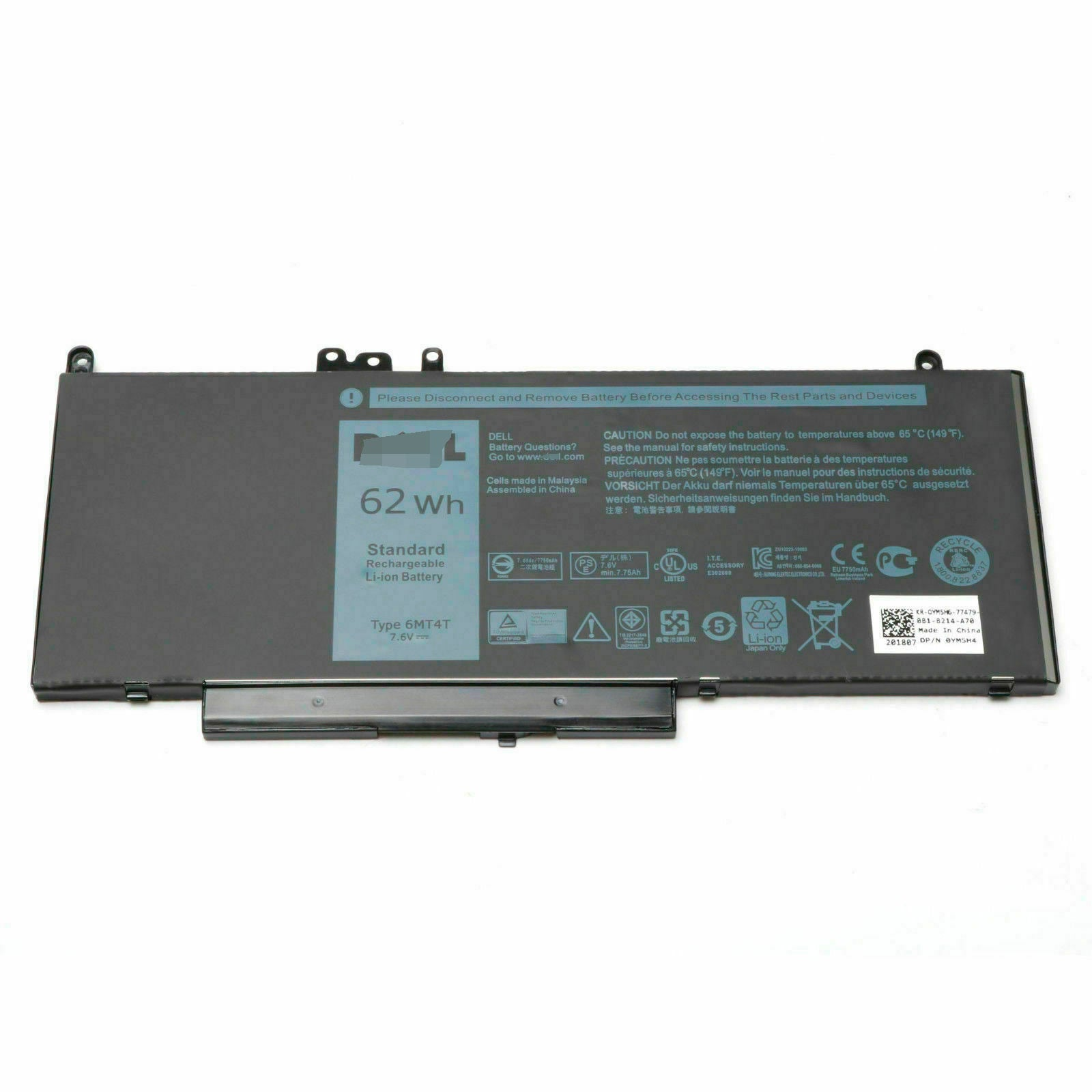 6MT4T 62Wh Battery For Dell Latitude 14 E5470 E5450 Latitude 15 5000 Series