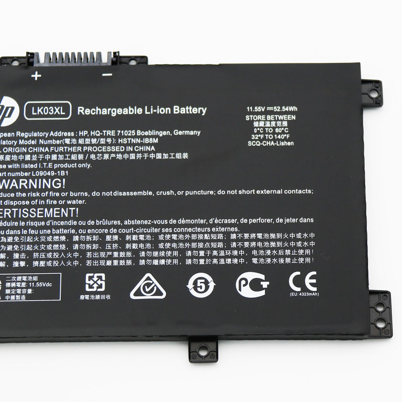 Replacement Hp LK03XL HSTNN-IB8M HSTNN-UB7I L09049-1B1 Battery