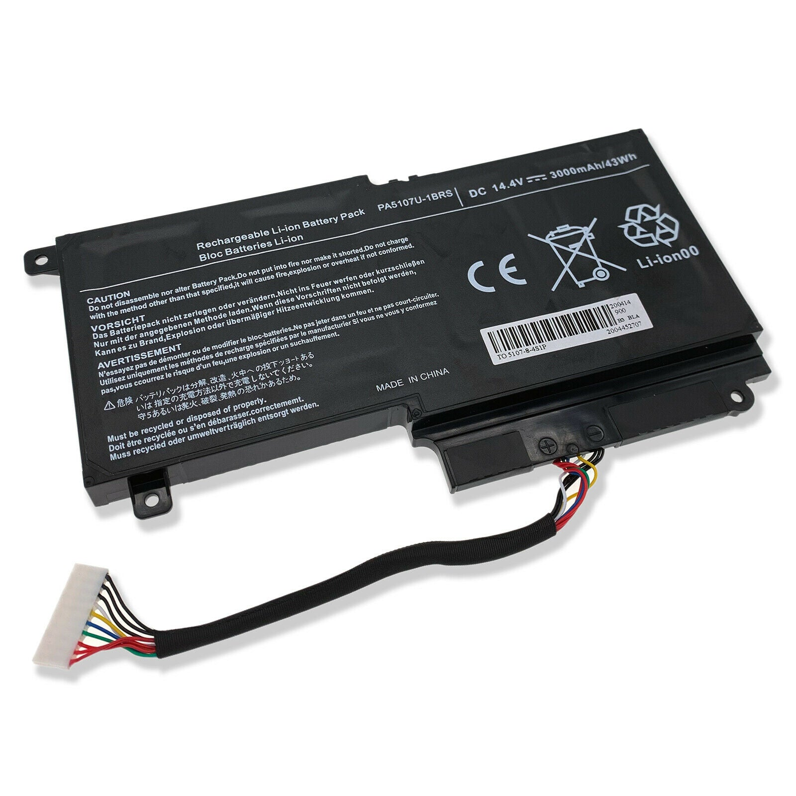 PA5107U-1BRS Replacement Battery For Toshiba Satellite L50-A-10Q S50-A-10H