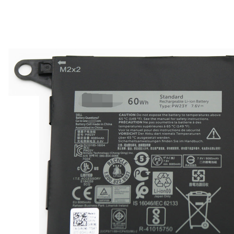 Dell XPS 13 9360 RNP72 TP1GT 7.6V 60Wh PW23Y Replacement Battery
