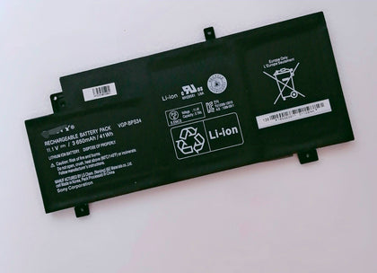VGP-BPS34 VGP-BPL34 Replacement Battery For Sony Fit 15 14 SVF15A TOUCH