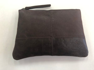 Leather Clutch - Chocolate
