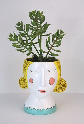 Blonde Rose Planter