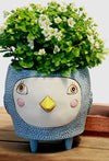 HELLO BIRDIE blue planter