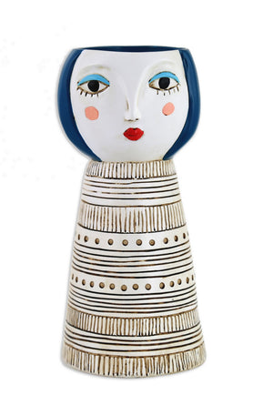 Lady Blue Vase-planter