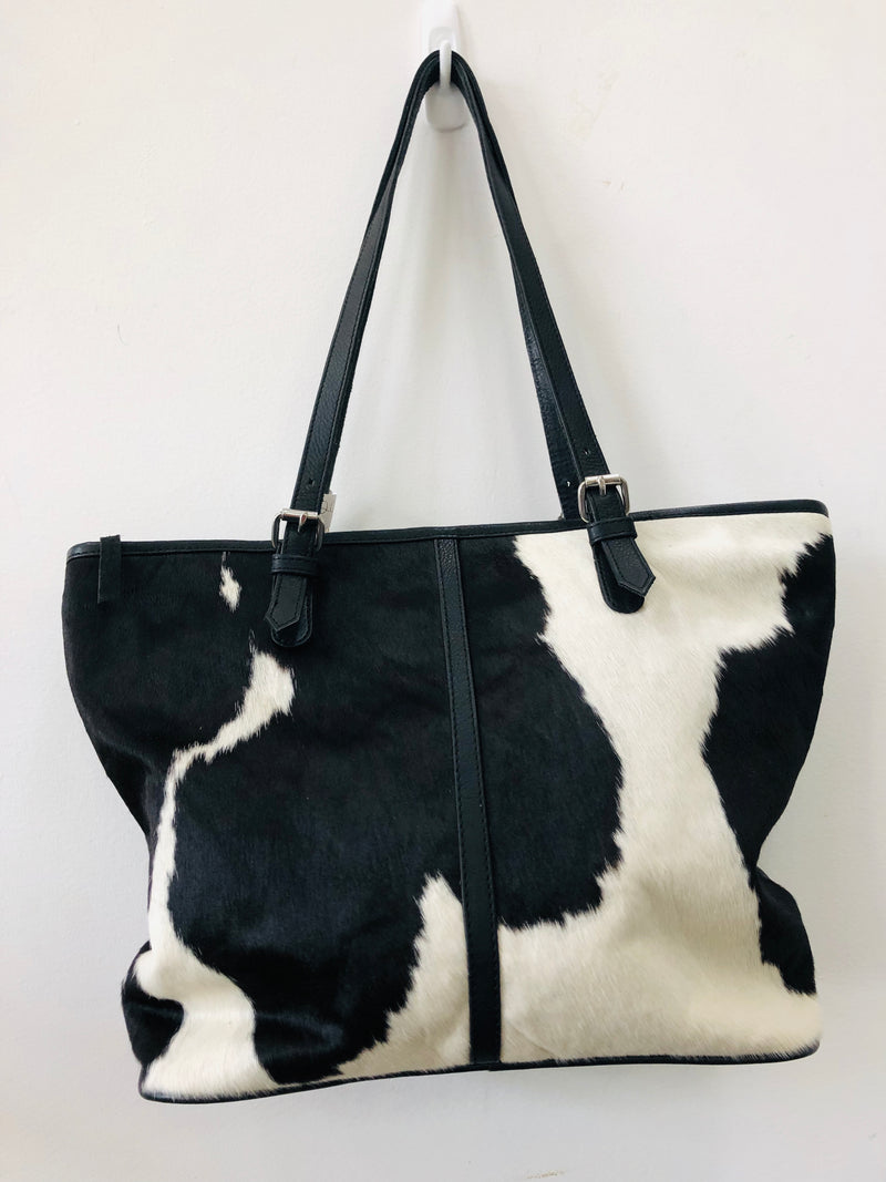 Black & white Cow Hide Leather Bag