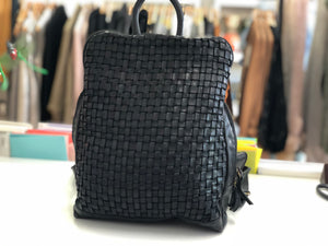 Lima Black Leather BackPack