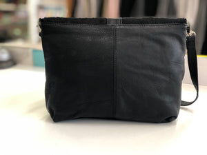 Black Cowhide Sling Bag