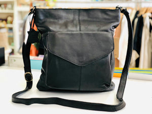 Emily - Leather Handbag Black