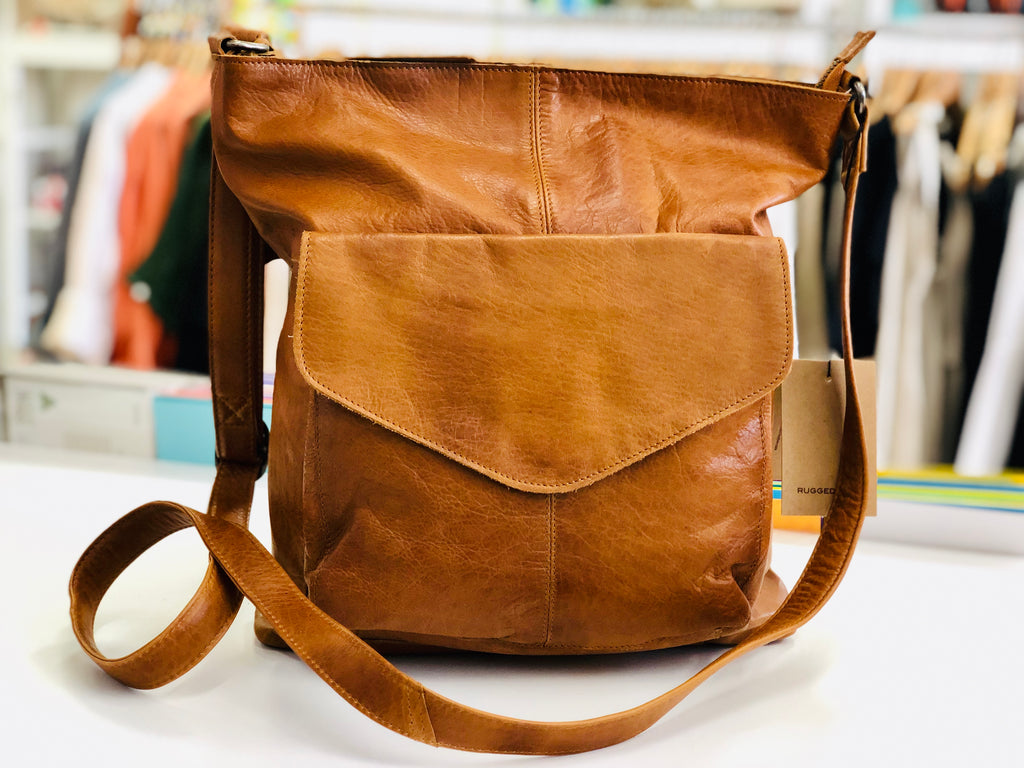 Emily Leather handbag -Tan
