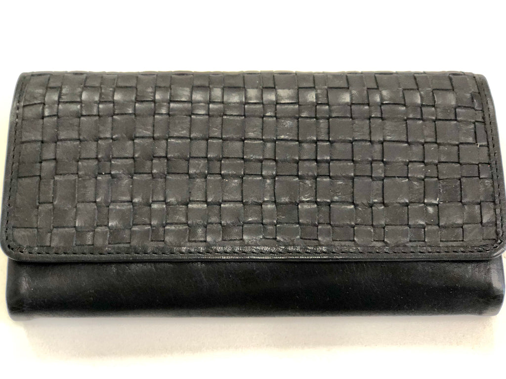 Black Woven Ladies Wallet