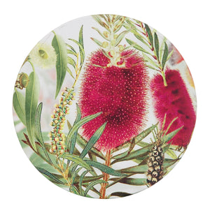 CERAMIC COASTER 10CM - BOTTLE BRUSH