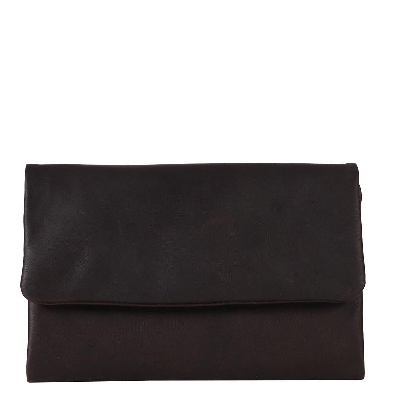 Oil Pull up Leather Wallet - Dark Brown
