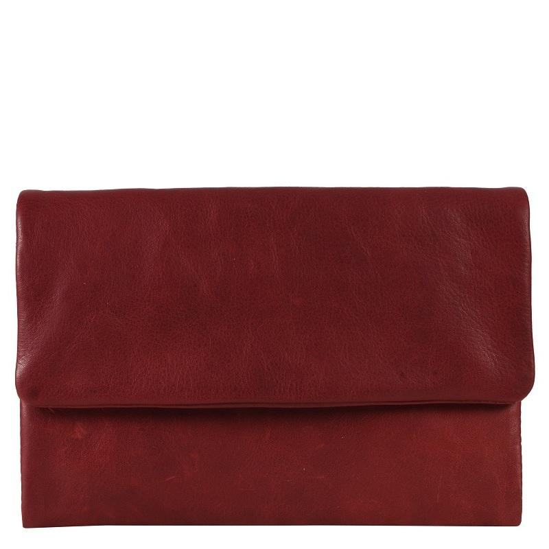 Oil Pull Up Leather Wallet- Deep Red