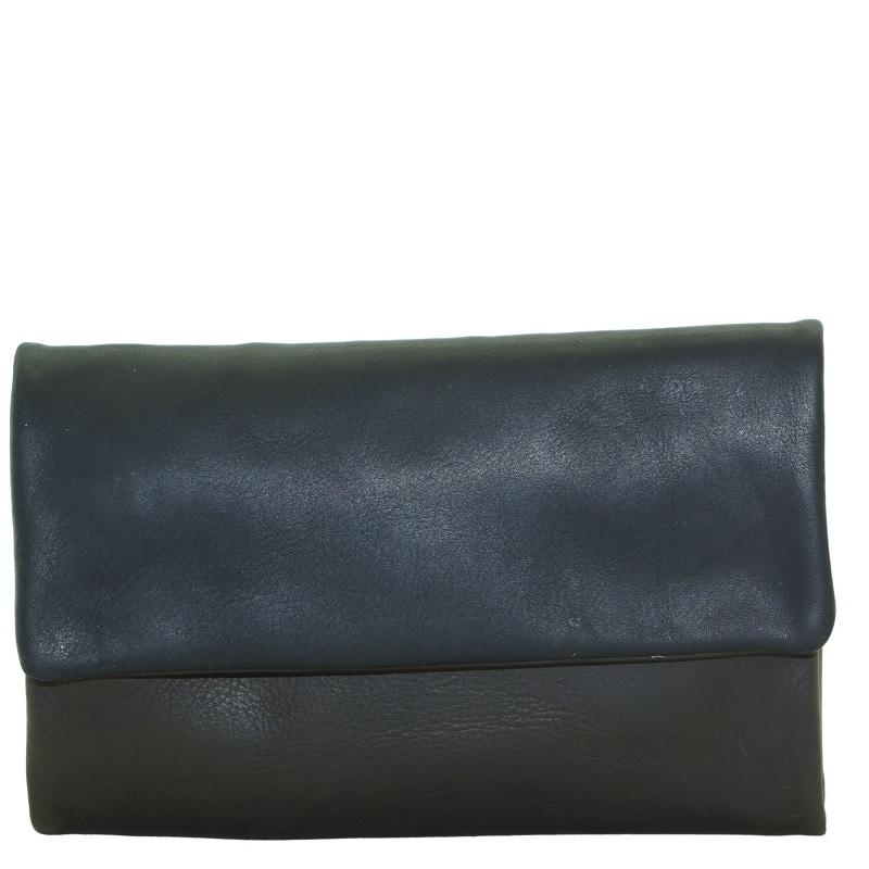 Oil Pull-up Leather Ladies Wallet-Olive Green with Black Front