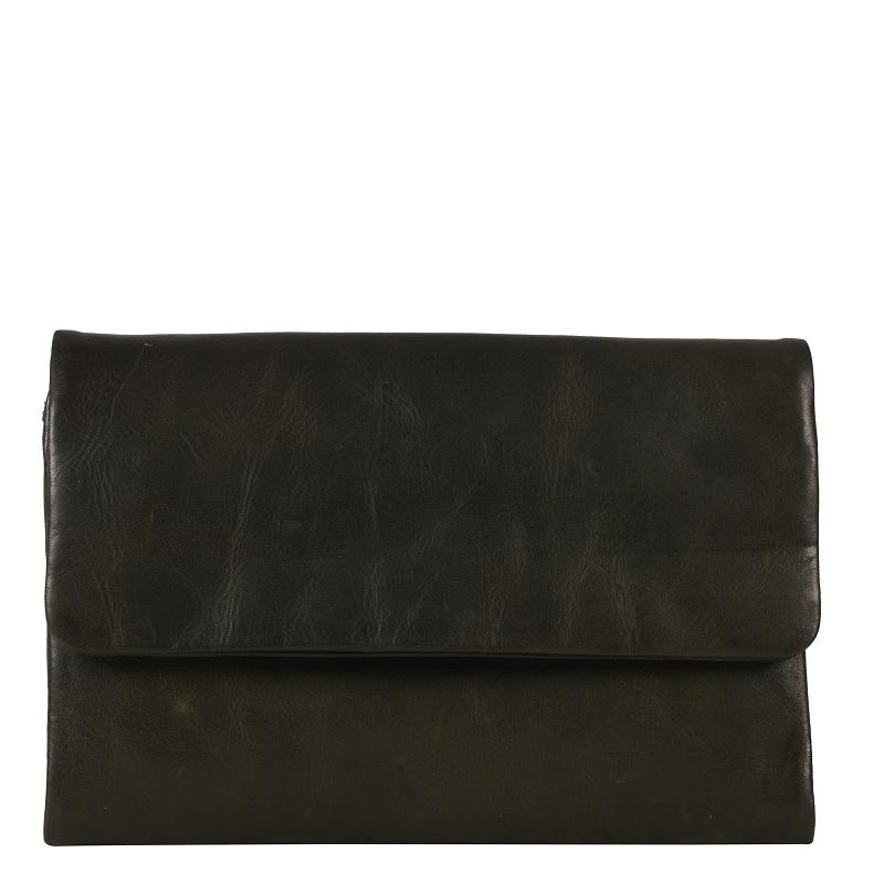 Oil pull up Leather Ladies Wallet- Olive Green