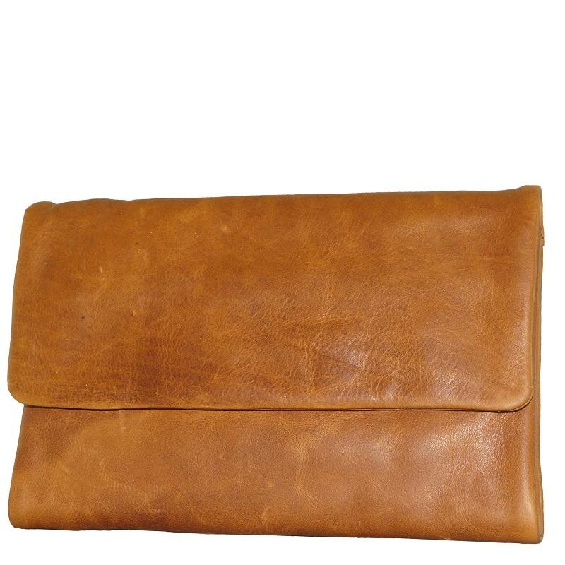Oil Pull Up Leather Ladies Wallet - Tan