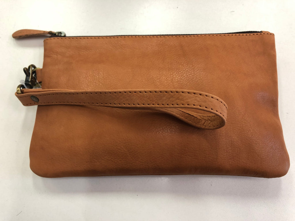 Plain Tan Clutch