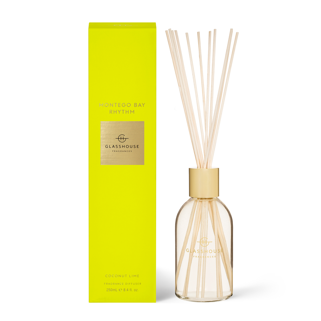 GLASSHOUSE MONTEGO BAY - COCONUT LIME Diffuser 250ml