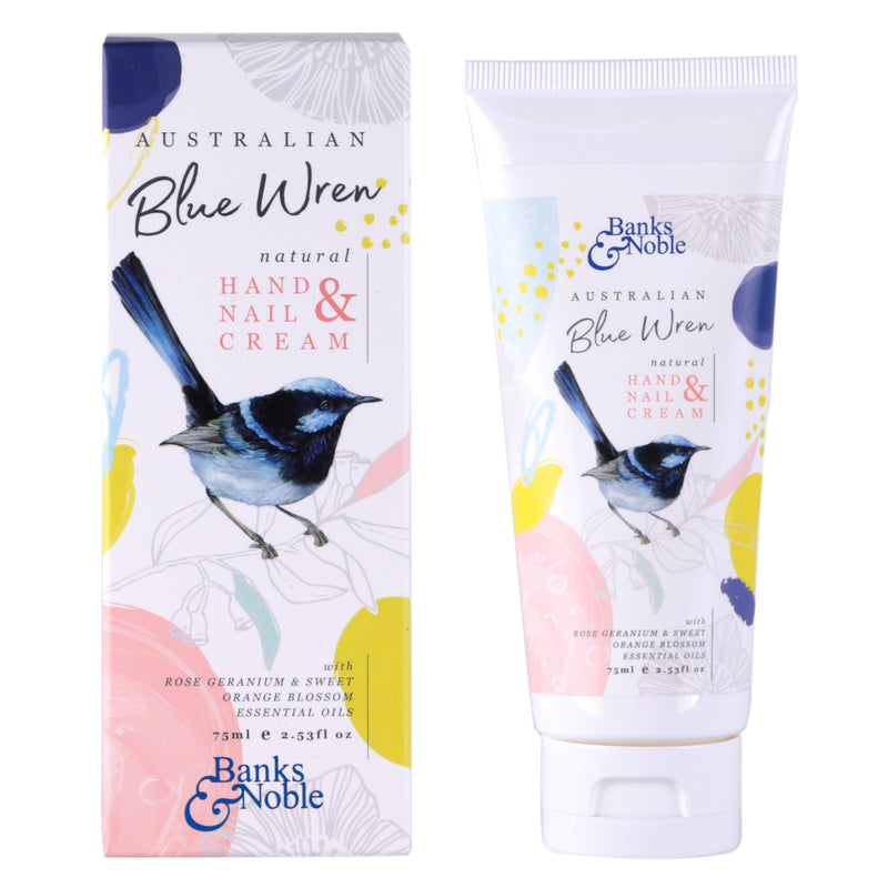 NATURAL WILD BLUE WREN HAND & NAIL CREAM 75ML