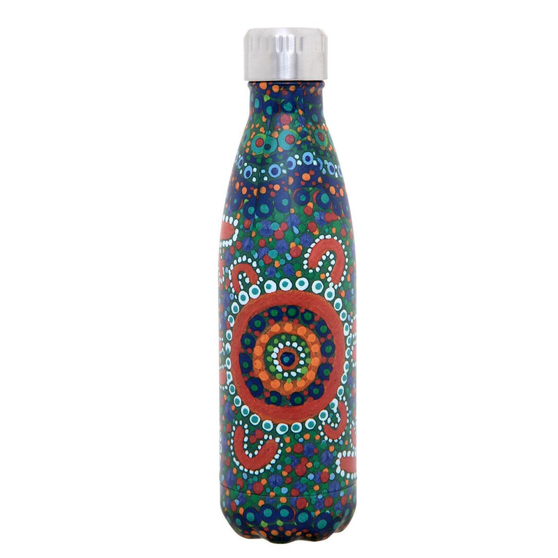 Dreamtime Stories Stainless Steel Drink Bottle - Finke River