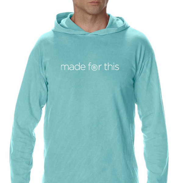 Made for This - Long Sleeve Hooded Shirt - Mint