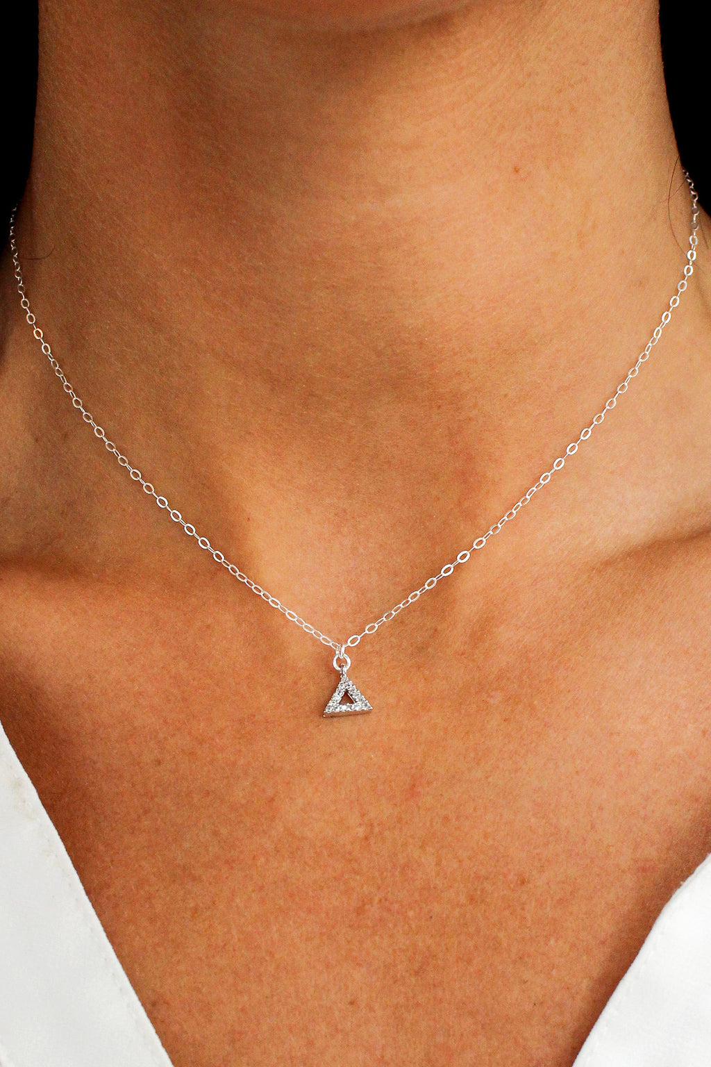 Shining Pyramid Necklace - Christine Elizabeth Jewelry - Glamour and Glow