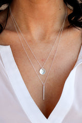 Petite Hammered Disc Necklace - Glamour and Glow