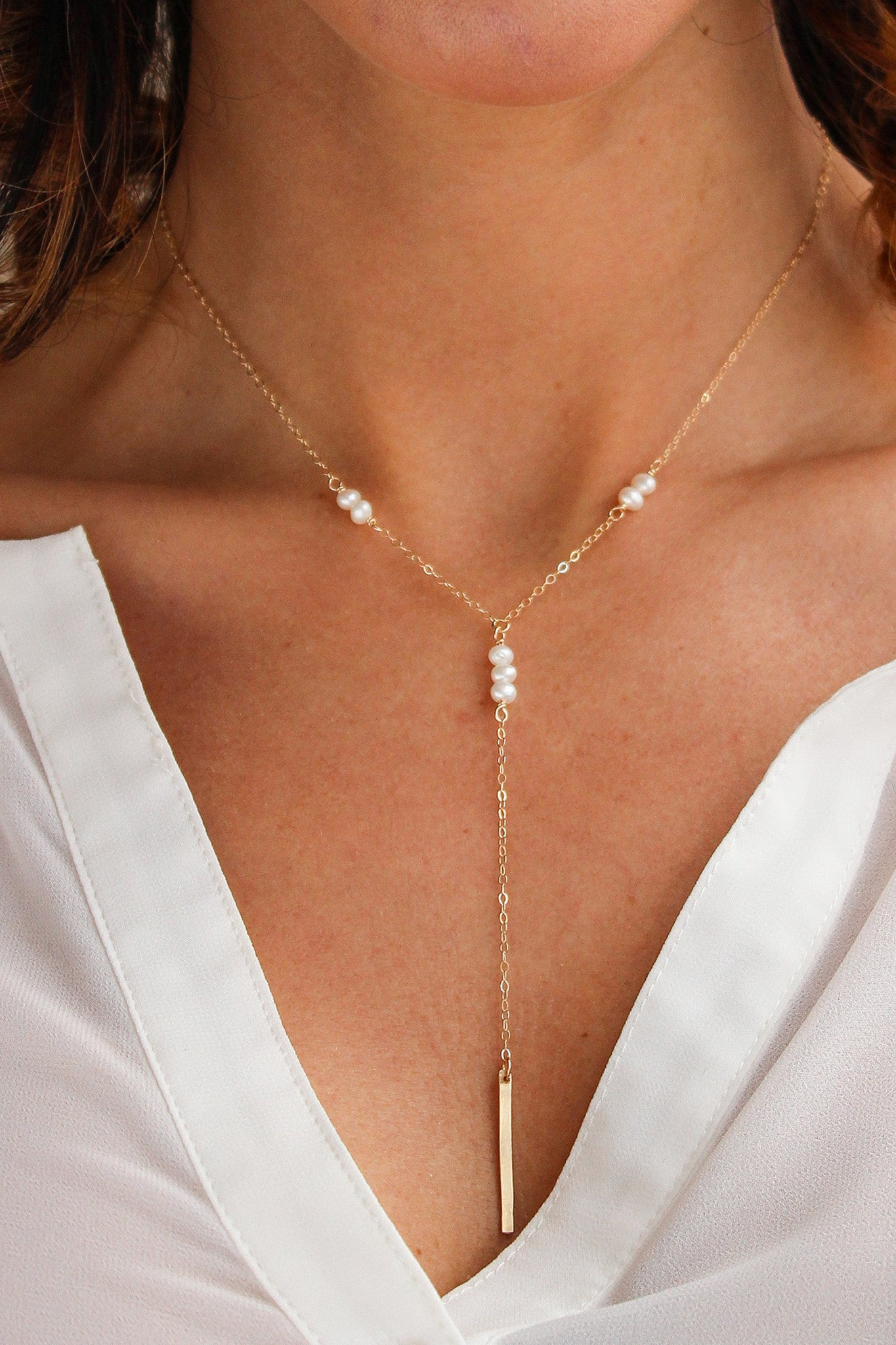 Galactic Pearl Y Necklace - Christine Elizabeth Jewelry - Glamour and Glow
