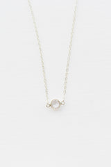 Crystal Solitaire Necklace - Christine Elizabeth Jewelry™ - Glamour and Glow  - 2