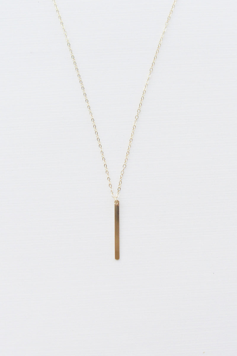 Flat Modern Bar Necklace - Christine Elizabeth Jewelry - Glamour and Glow