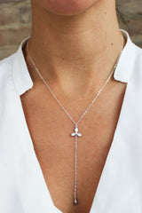 Blossoms Lariat Y Necklace - Christine Elizabeth Jewelry - Glamour and Glow