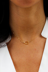 Wishful Thinking Wishbone Necklace - Christine Elizabeth Jewelry - Glamour and Glow