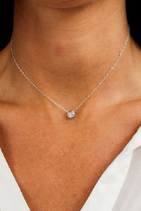 Minimalist Suspended Solitaire Necklace - Christine Elizabeth Jewelry - Glamour and Glow  - 1