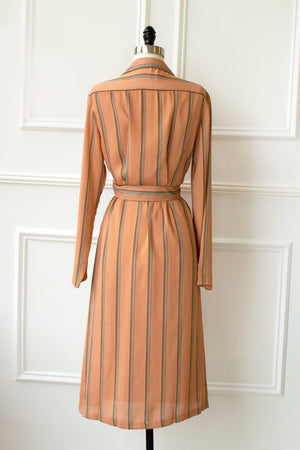 Liza Striped Midi Dress