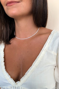 Baby Pearl Collar Necklace - Christine Elizabeth Jewelry