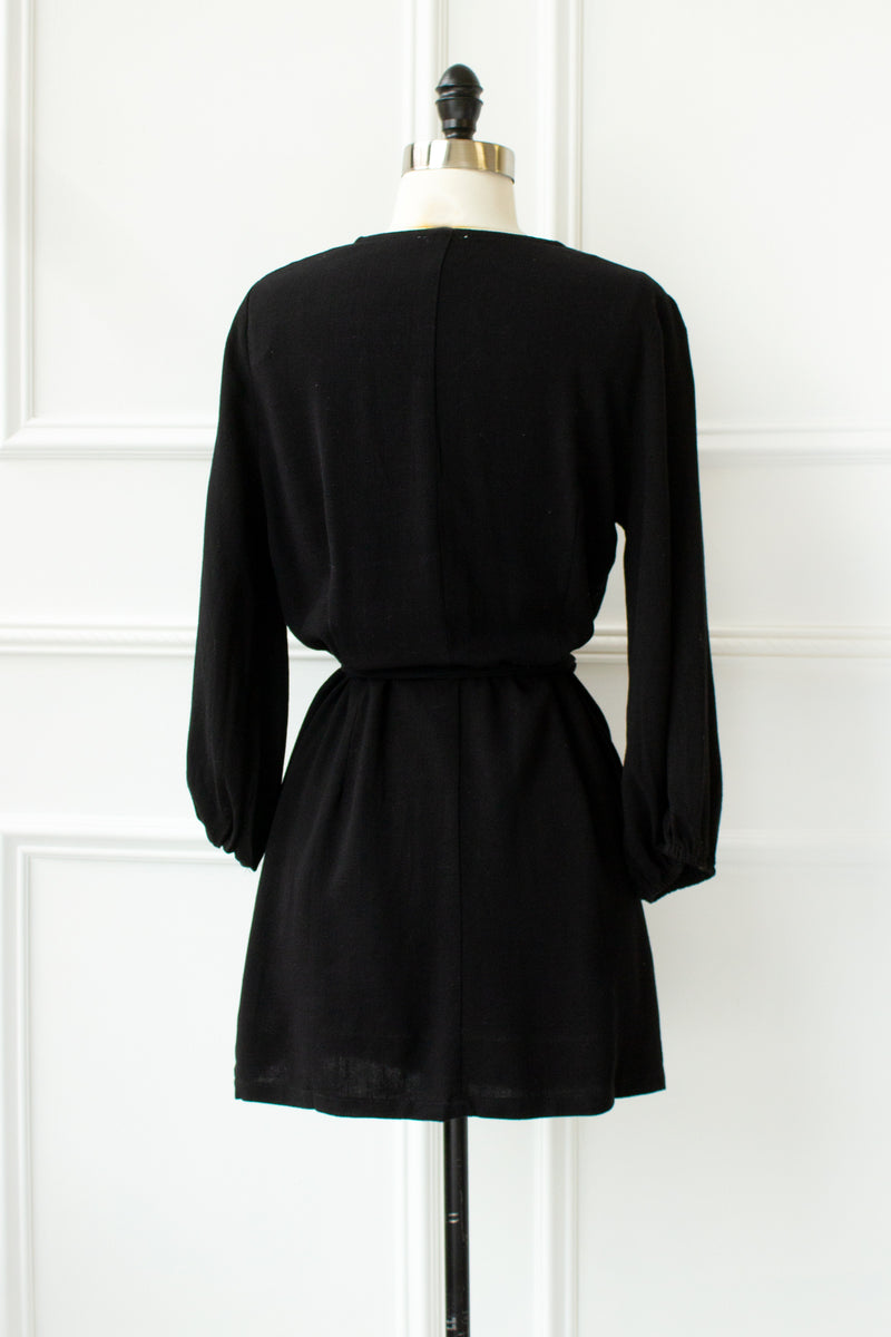 Stevie Tunic Mini Dress - black