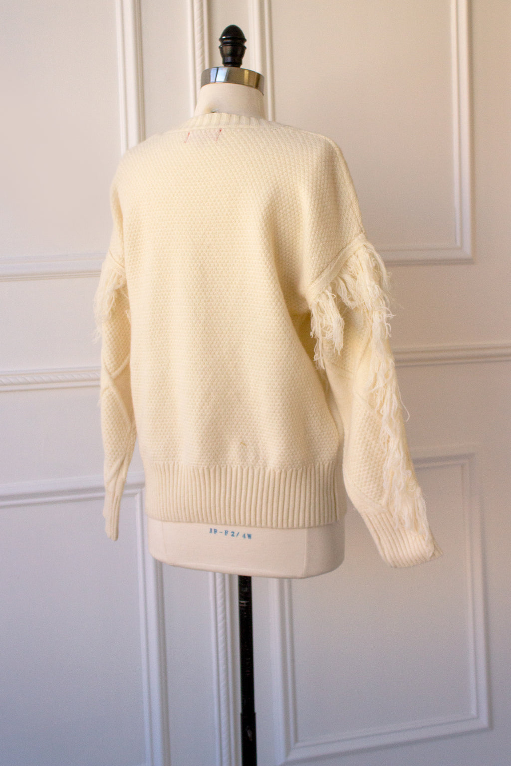 Soft Cable Knit Sweater with Fringe