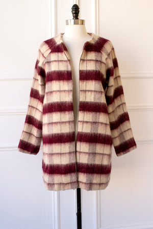 London Berry Plaid Wool Jacket