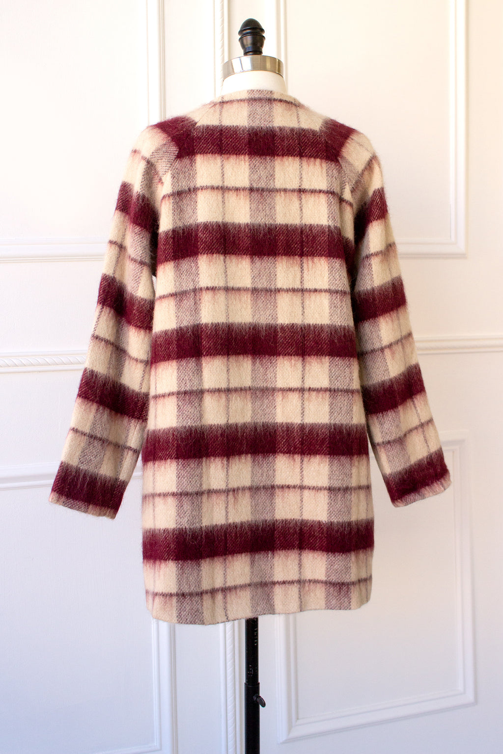 long plaid coat for the fall