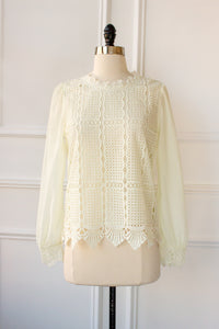 Felicity Lace Mock Neck Blouse