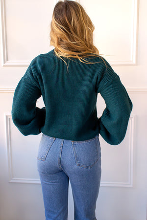 Liv Sweater - emerald