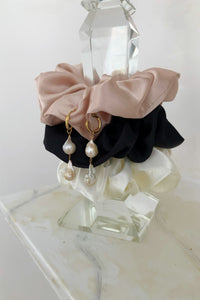 large silk satin scrunchies