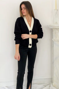 dressy v-neck cardigan to wear as a top