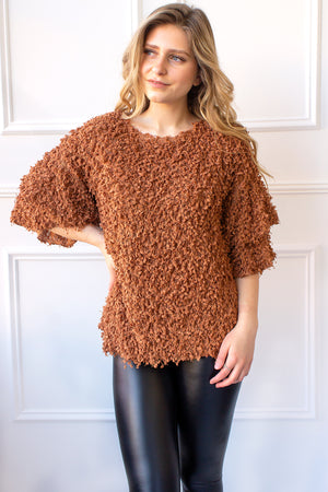 Tinsley Shag Top - camel