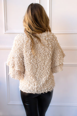 Tinsley Shag Top - ivory