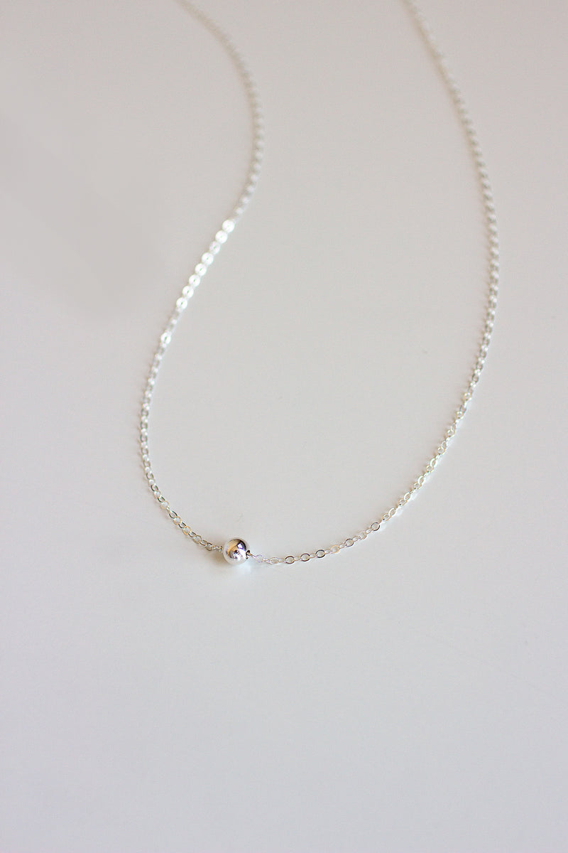Silver Dust Solitaire Necklace - Christine Elizabeth Jewelry